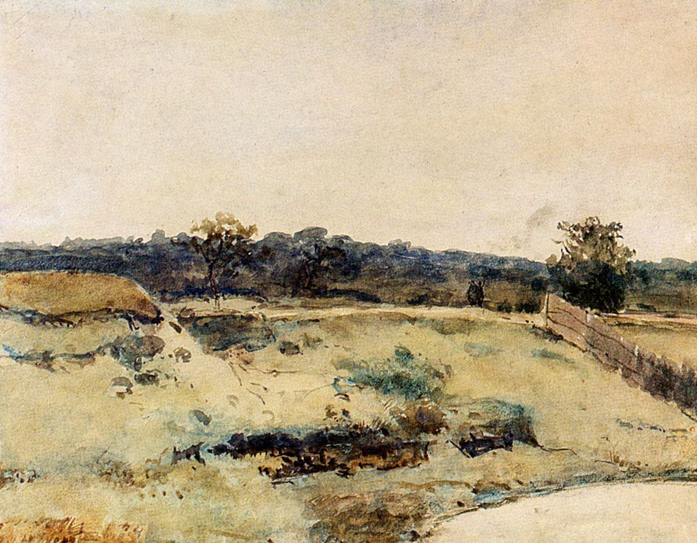 A Summer Landscape With Figures On A Path by Jan Hendrik Weissenbruch