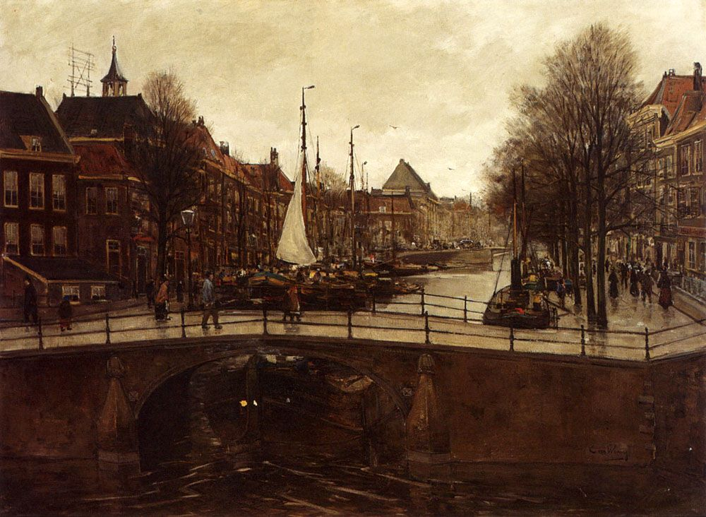A View Of Het Zieken The Hague by Cornelis Antoni Van Waning