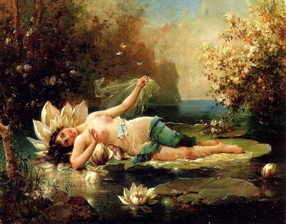 A Water Idyll by Hans Zatzka