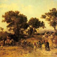 An Arab Hunting Party by Georges Washington