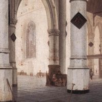 Church Interior by Hendrick van Vliet