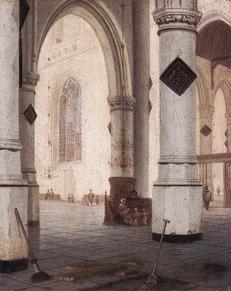 Church Interior by Hendrick van Vliet