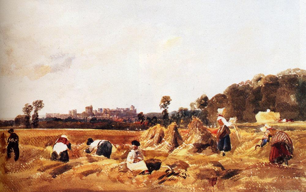 Cornfield Windsor by Peter de Wint