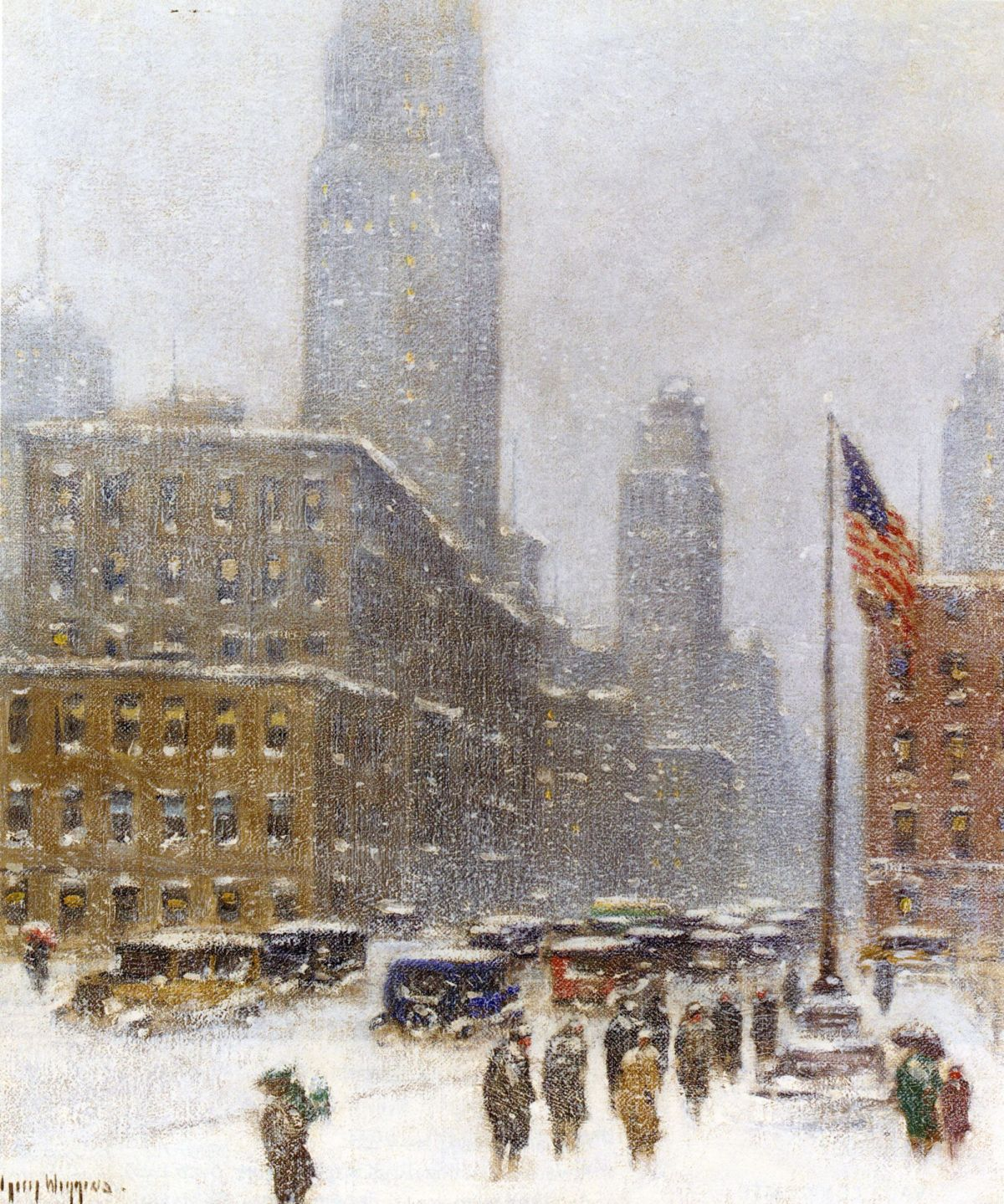 Empire State Building Winter by Guy Carleton Wiggins