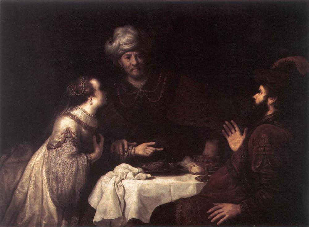 Esther and Haman before Ahasuerus by Jan Victors