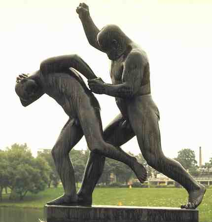 Father Punishing Son by Gustav Vigeland