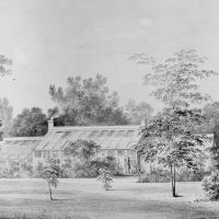 Greenhouse, David Hosack Estate, Hyde Park, New York (from Hoasack Album) by Thomas Kelah Wharton