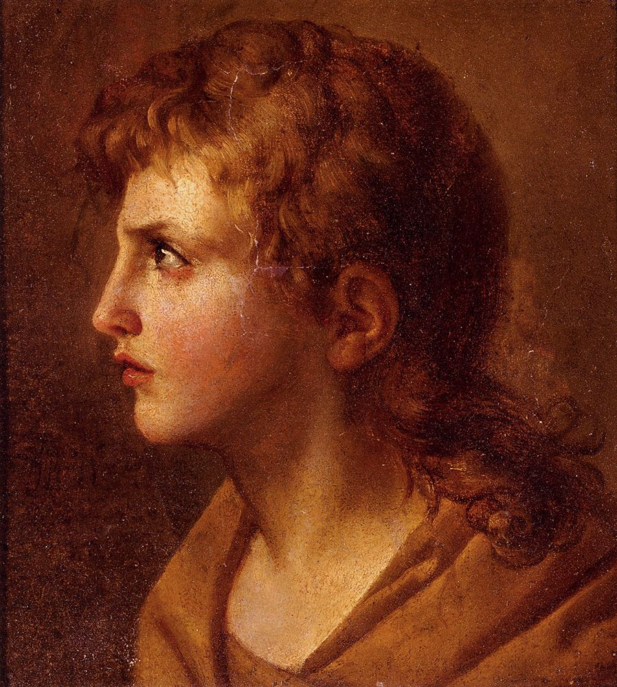 Head Of A Young Man In Profile by Jean Baptiste Joseph Wicar