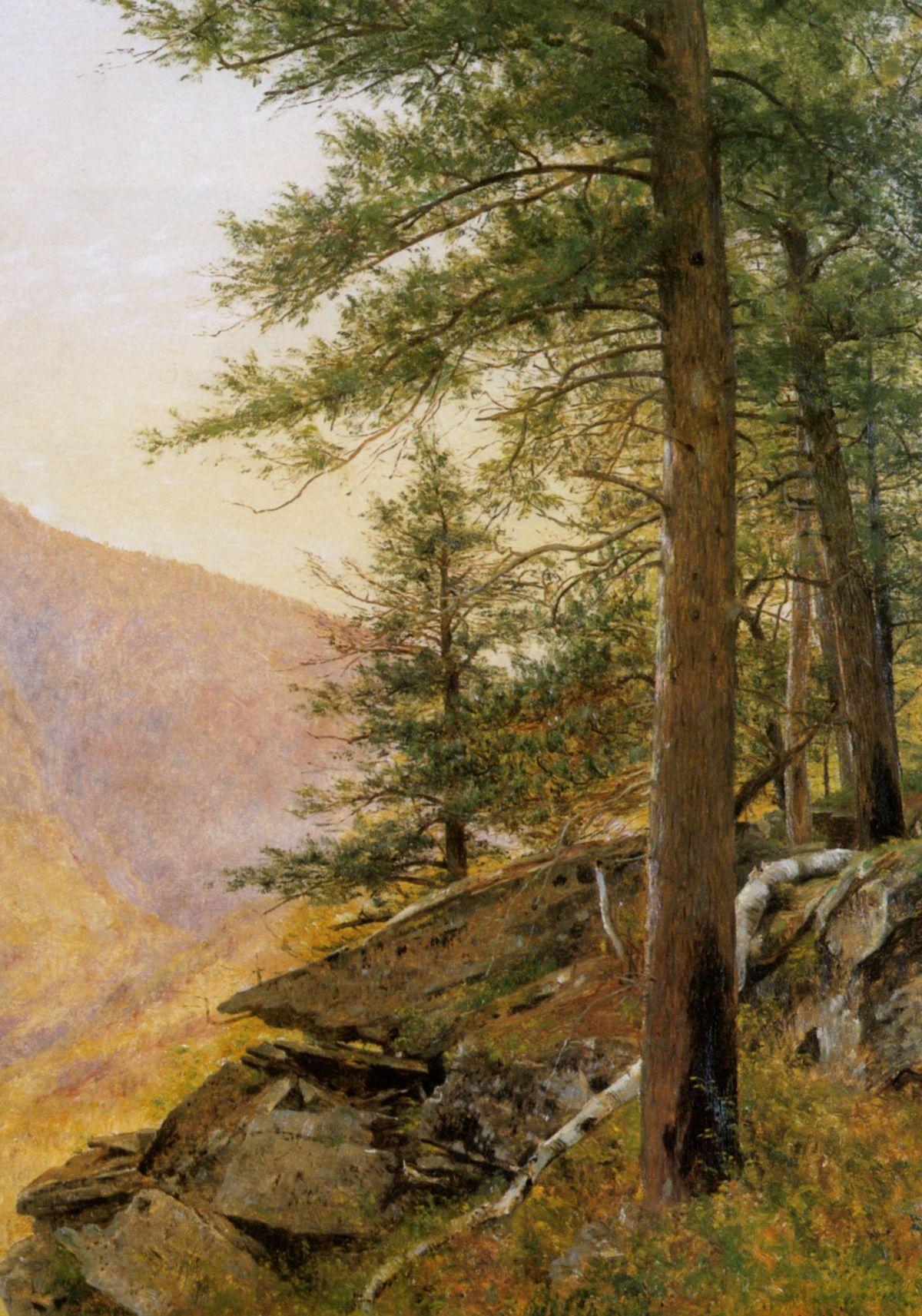 Hemlocl in the Catskills by Thomas Worthington Whittredge