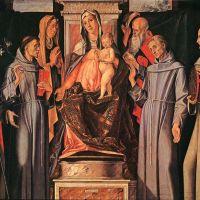 Holy Family (Sacra Conversazione) by Alvise Vivarini