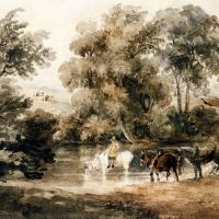 Horses Drinking At A Pool by Peter de Wint