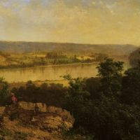 Hudson River View by Alexander Helwig Wyant