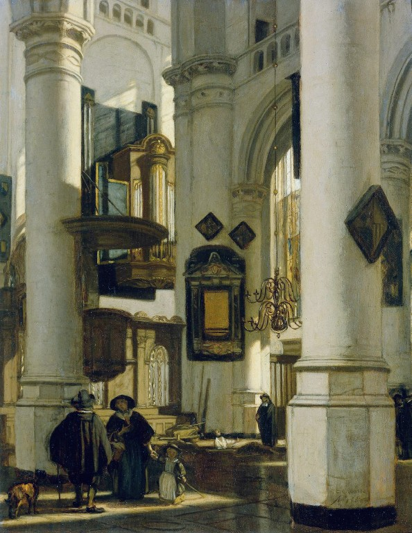 Interior of a Protestant Gothic Church by Emanuel de Witte