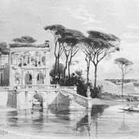 Italian Lake Scene with Villa (from Cropsey Album) by Carl Friedrich H. Werner