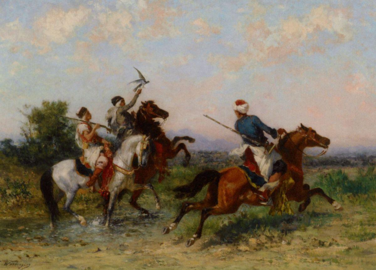 La Chasse au Faucon by Georges Washington