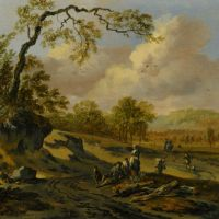 Landscape with Travellers by Jan Wijnants