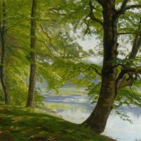 Landscape with Trees by Christian Peder Morch Zacho