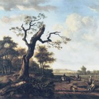 Landscape with a Hawking party by Jan Wijnants