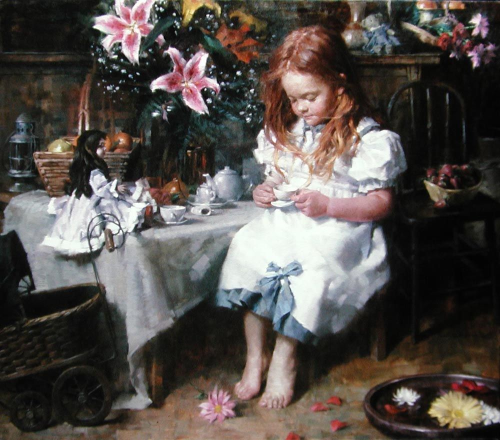 Lillies and Tea by Morgan Weistling