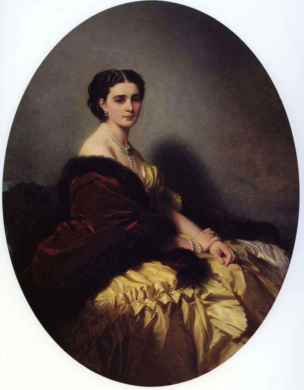 Madame-Sofya-Petrovna-Naryschkina-by-Franz-Xavier-Winterhalter