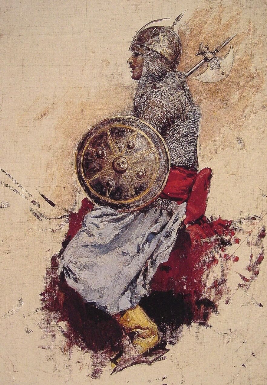 Man in Armour by Edwin Lord Weeks