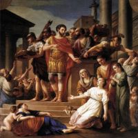 Marcus Aurelius Distributing Bread to the People by Joseph Marie Vien