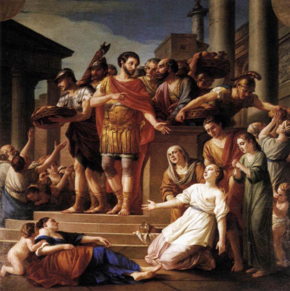 Marcus Aurelius Distributing Bread to the People by Joseph Marie Vien