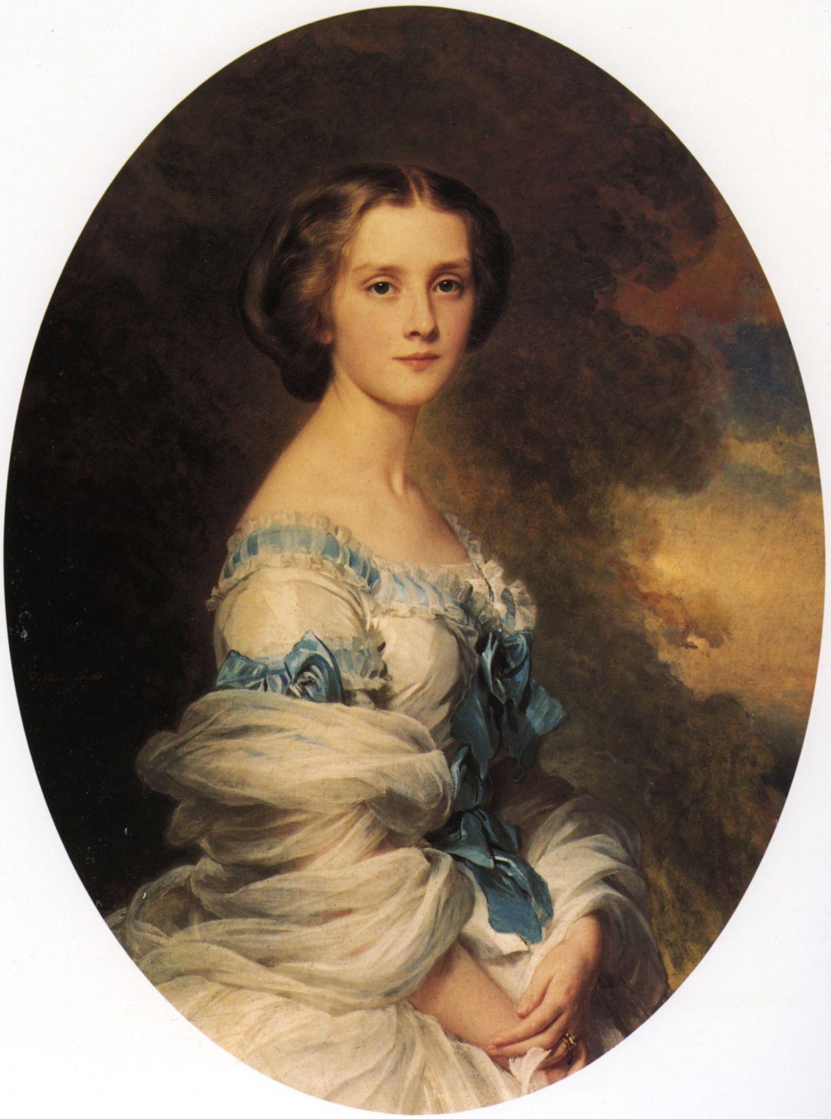 Melanie de Bussiere Comtesse Edmond de Pourtales by Franz Xavier Winterhalter