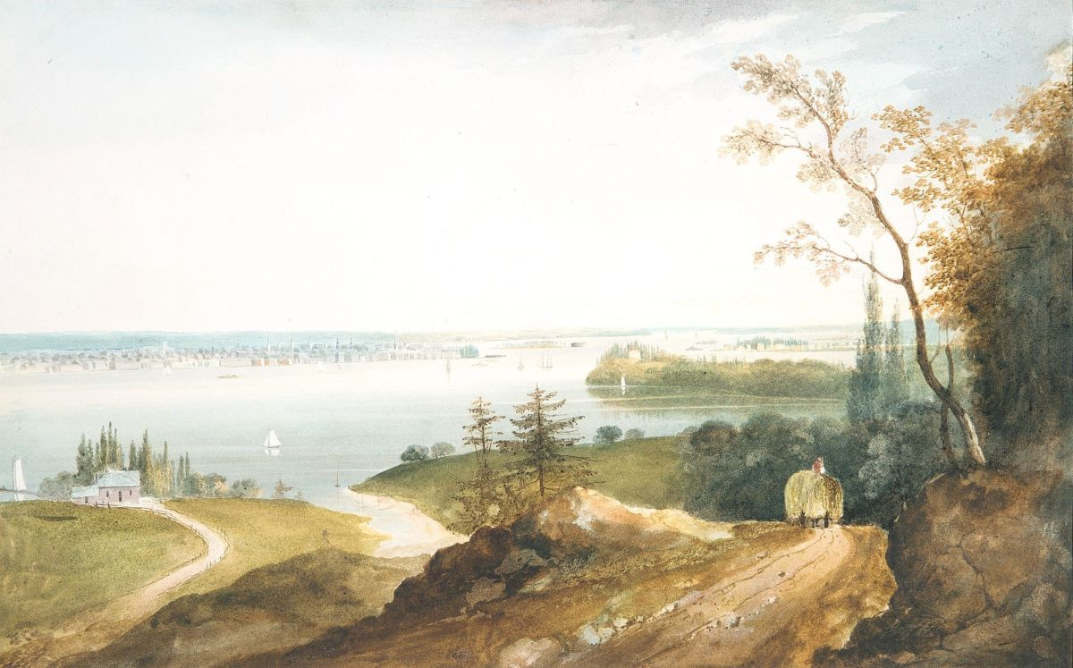New York from Weehawk by William Guy Wall