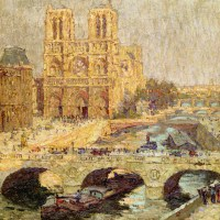 Notre Dame, Paris 1914 by Terrick Williams