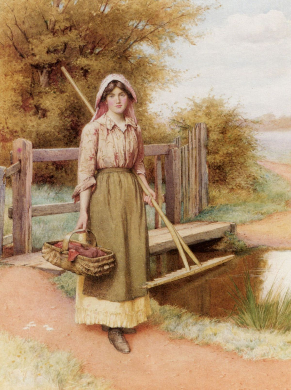 On The Way to the Hayfield by Charles Edward Wilson