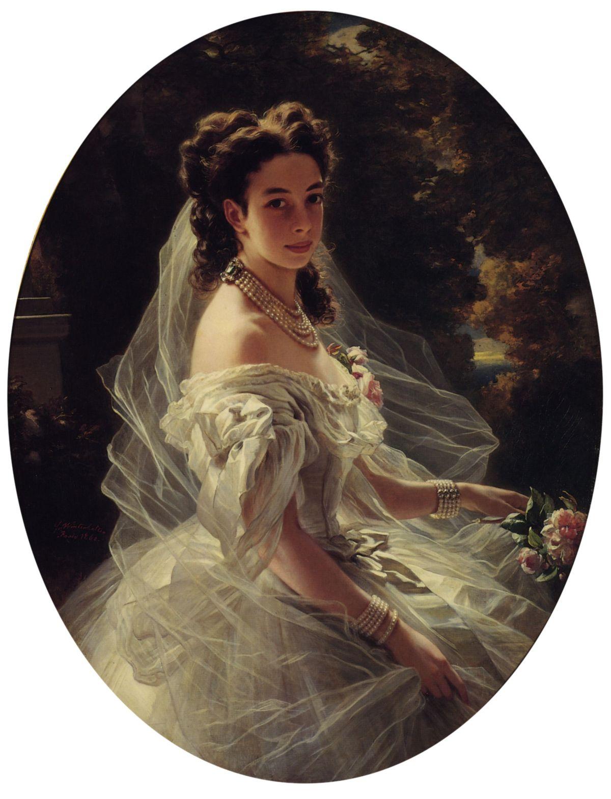 Pauline Sandor  Princess Metternich by Franz Xavier Winterhalter