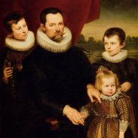 Portrait Of A Nobleman And Three Children by Cornelis De Vos