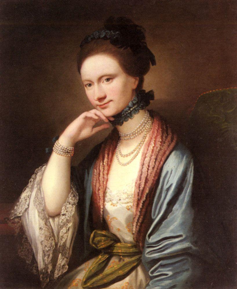 Portrait of Ann Barbara Hill Medlycott 1720 1800 by Benjamin West