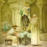Preparations for the Procession by Jehan Georges Vibert
