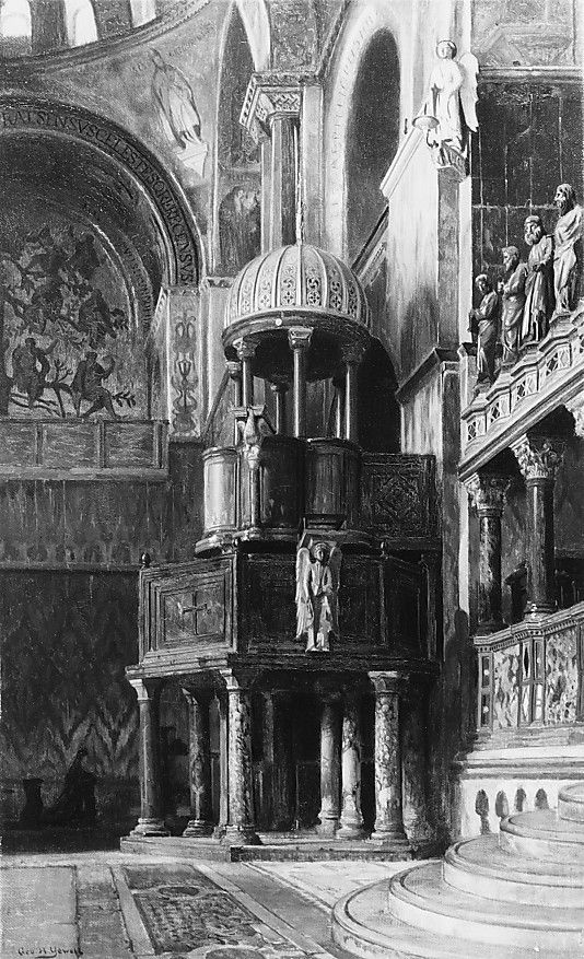 Pulpit in Saint Mark s Venice by George Henry Yewell