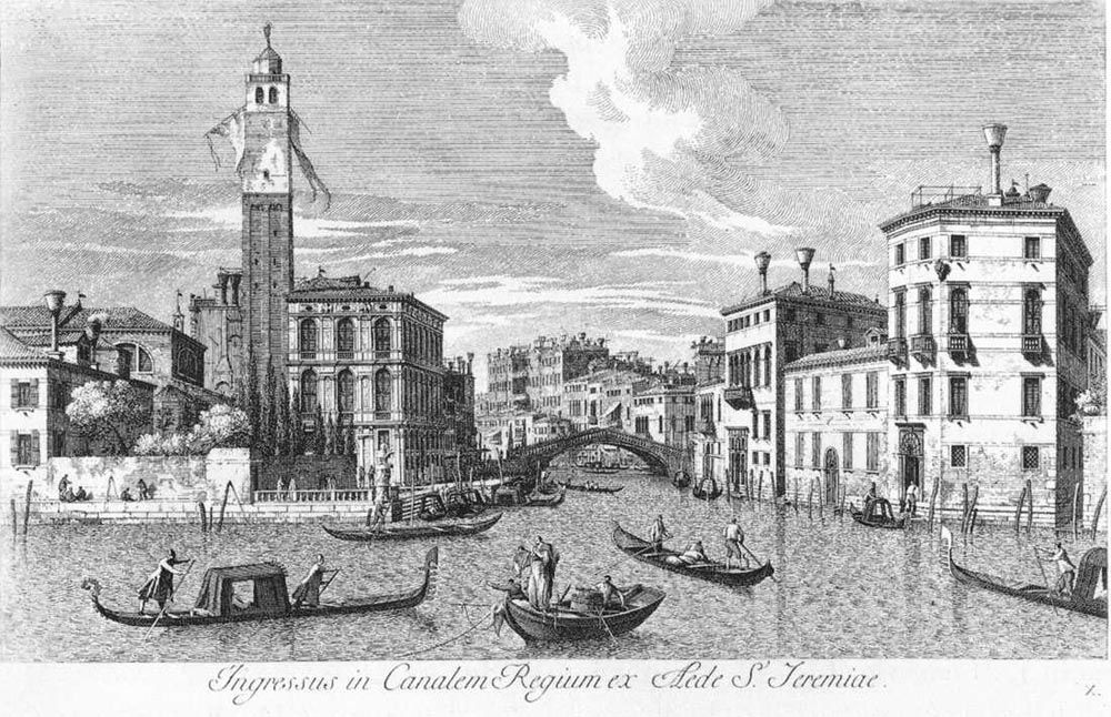 San Geremia and the Entrance of Cannaregio by Antonio Visentini