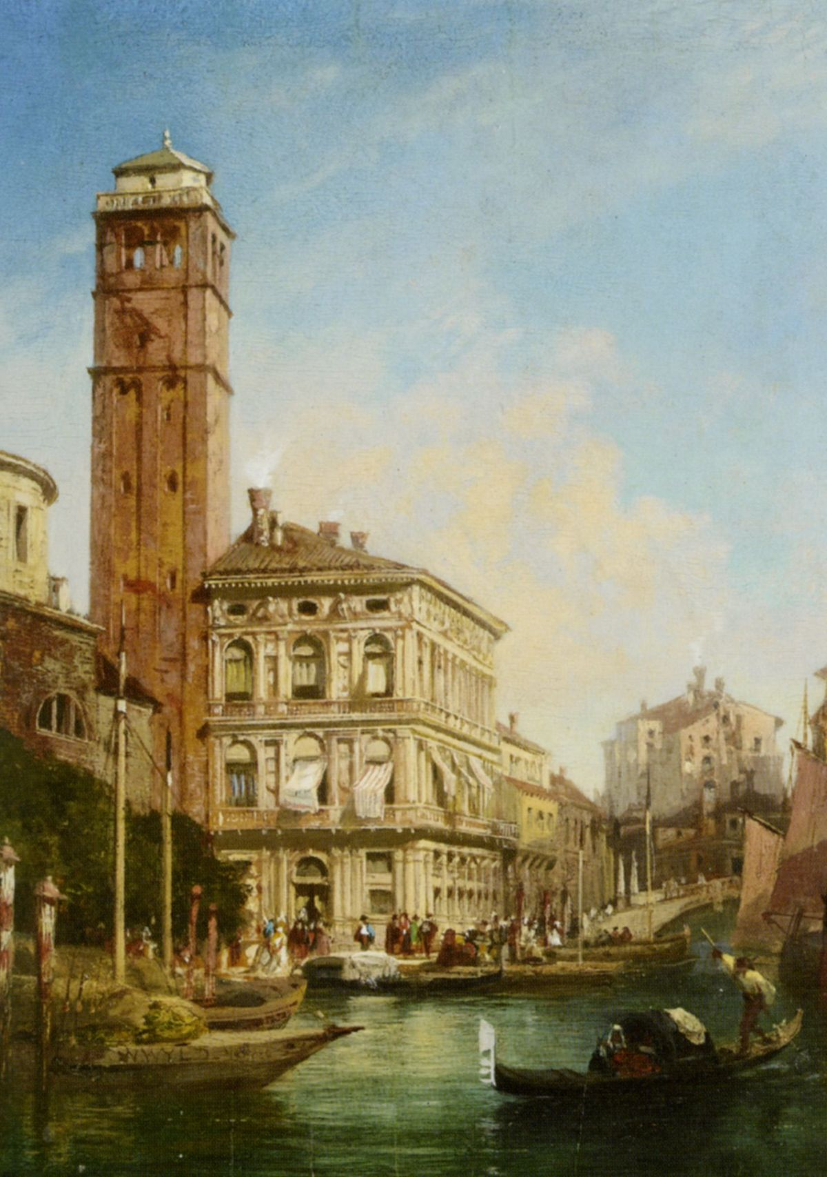 San Geremia with the Palazzo Labia Venice by William Wilde
