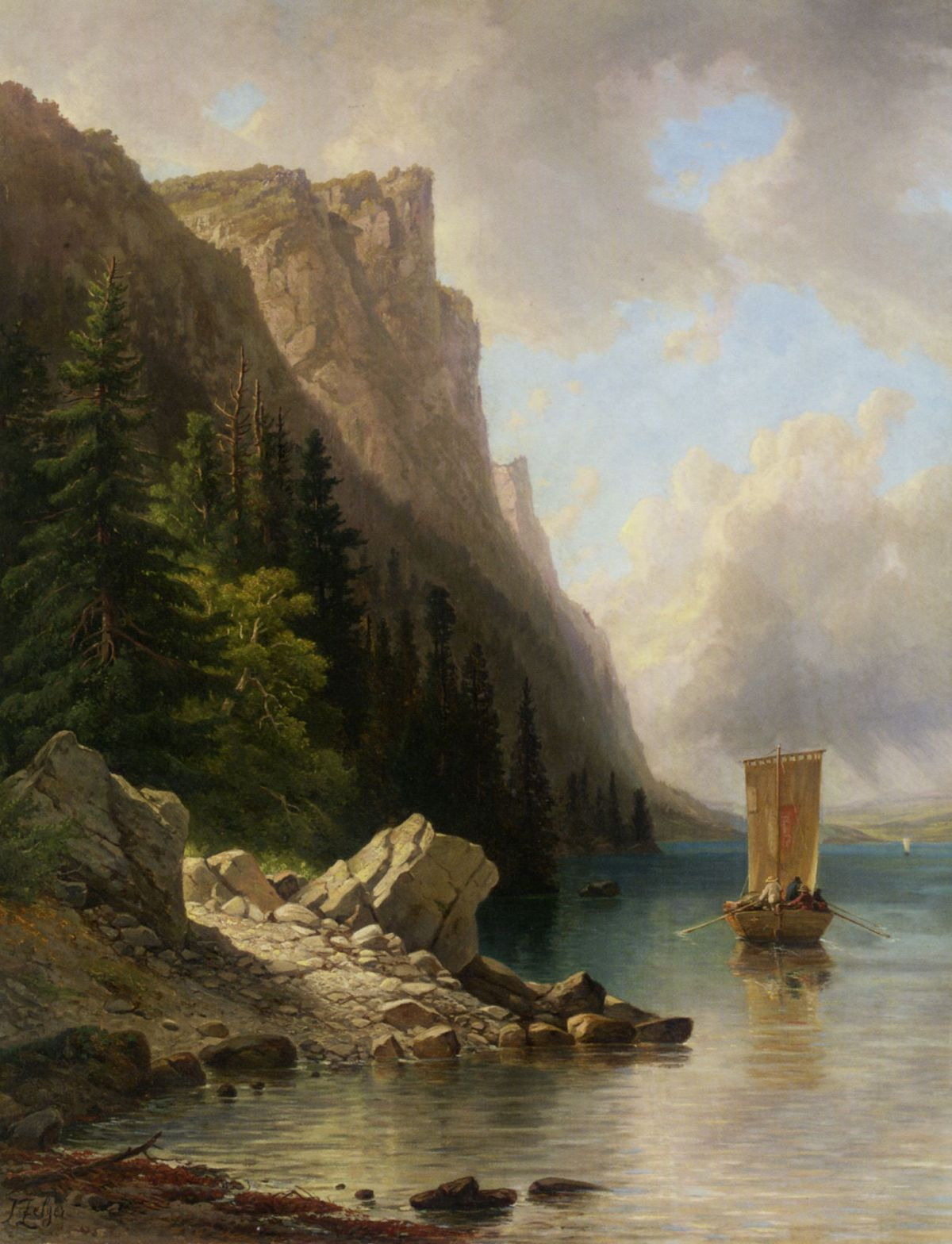 Ships Approaching the Shore by Joseph Zelger