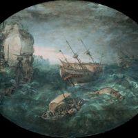 Shipwreck off a Rocky Coast by Adam Willaerts