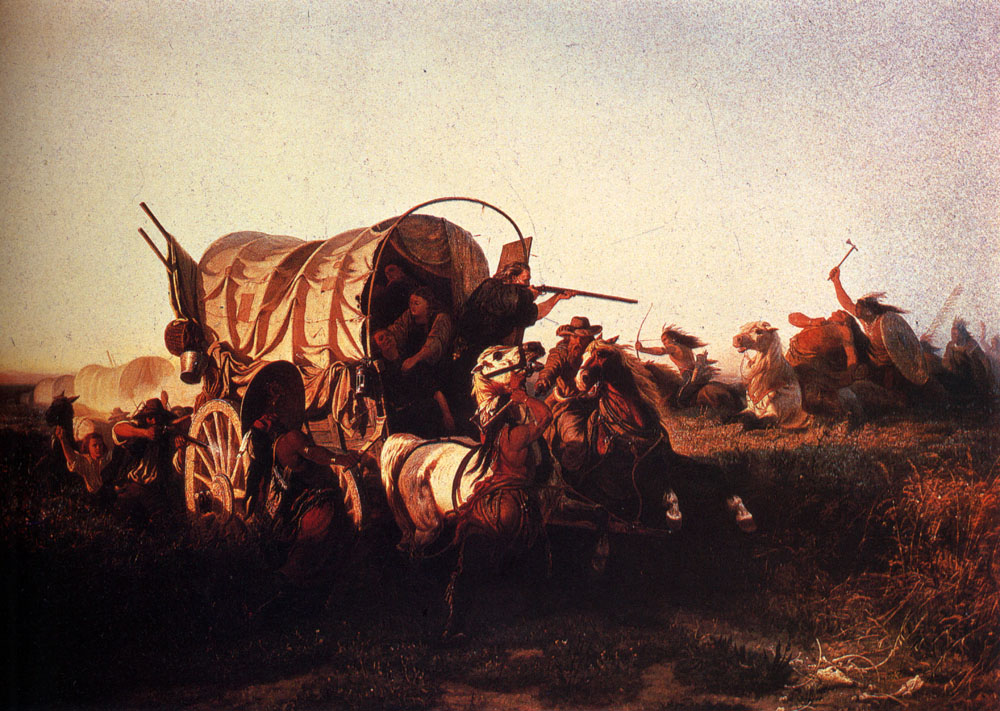 The Attack On The Emigrant Train by Charles Ferdinand Wimar