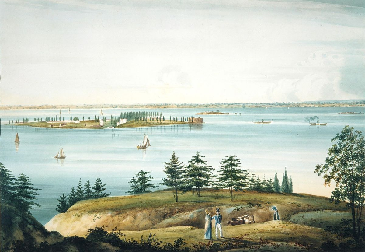 The Bay of New York Taken from Brooklyn Heights by William Guy Wall