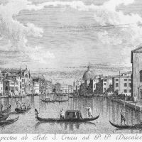 The Canal Grande from Santa Croce to the East by Antonio Visentini