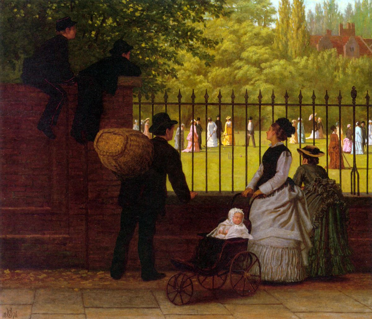 The Croquet Game by Ormsby Wood
