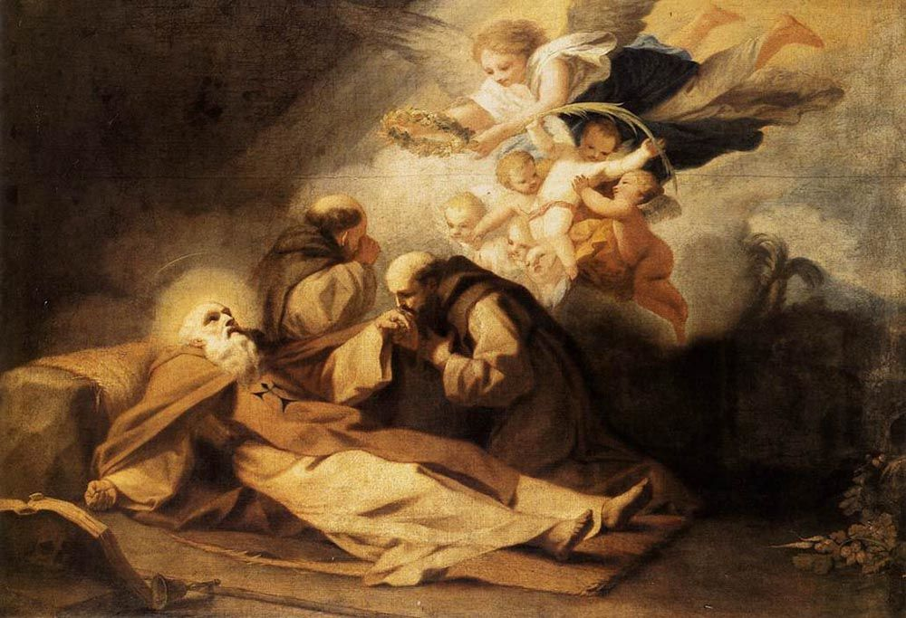 The Death of St Anthony the Hermit by Antonio Viladomat Y Manalt
