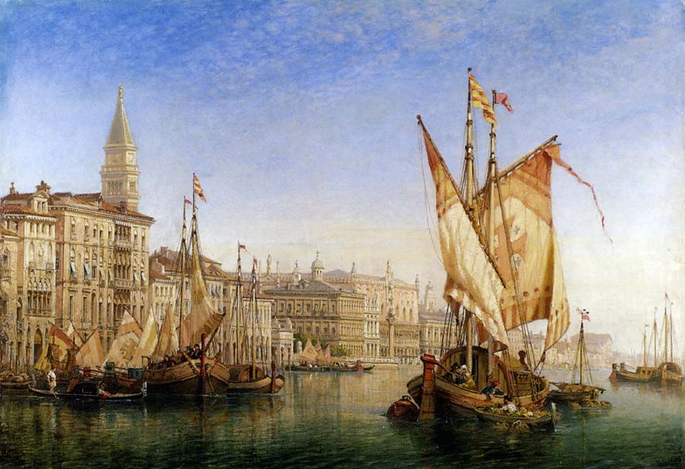 The Doges Palace From The Entrance To The Grand Canal by William Wilde