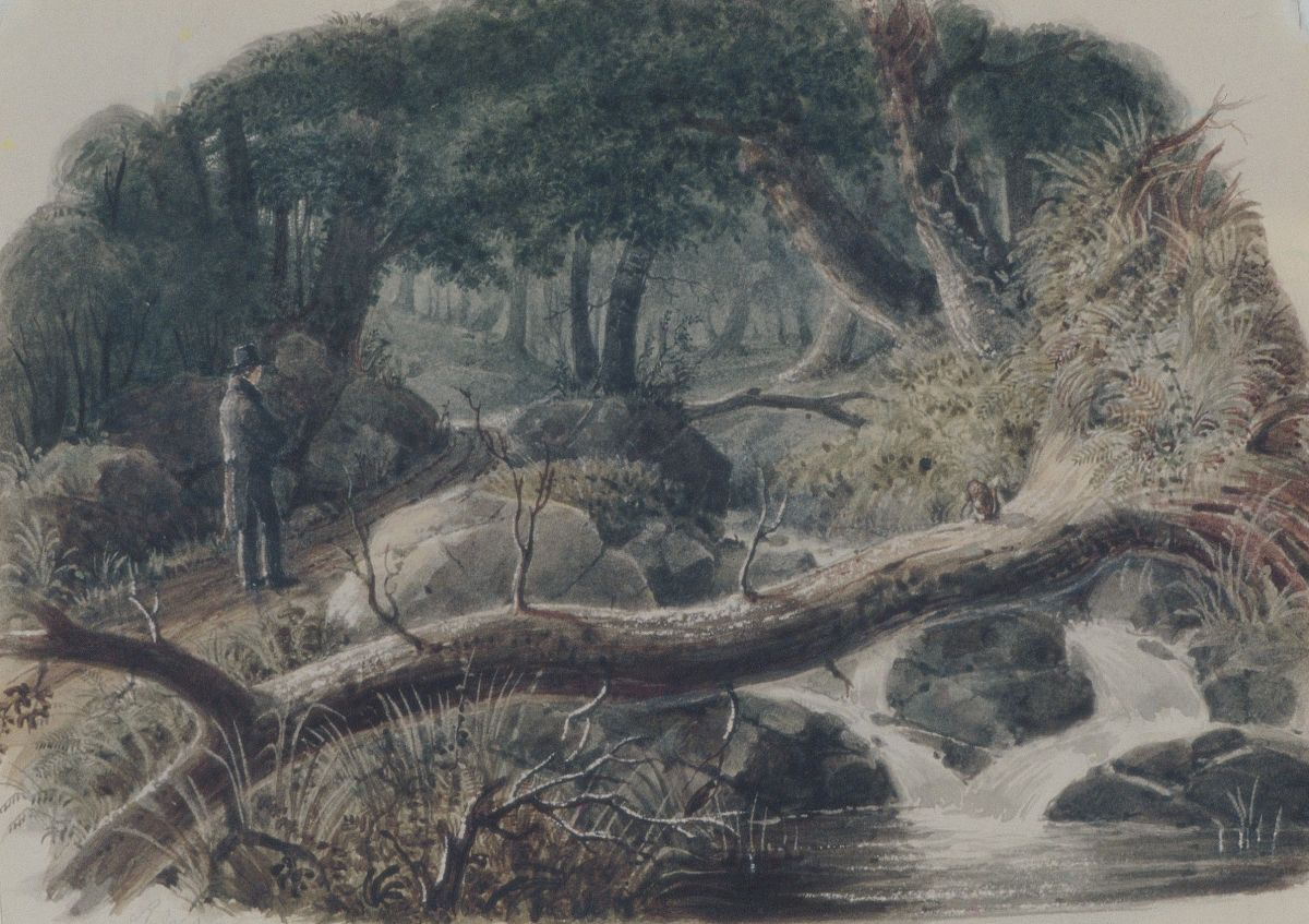 The Entrance to a Wood by Robert Walter Weir