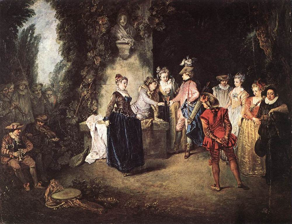 The French Comedy by Jean Antoine Watteau