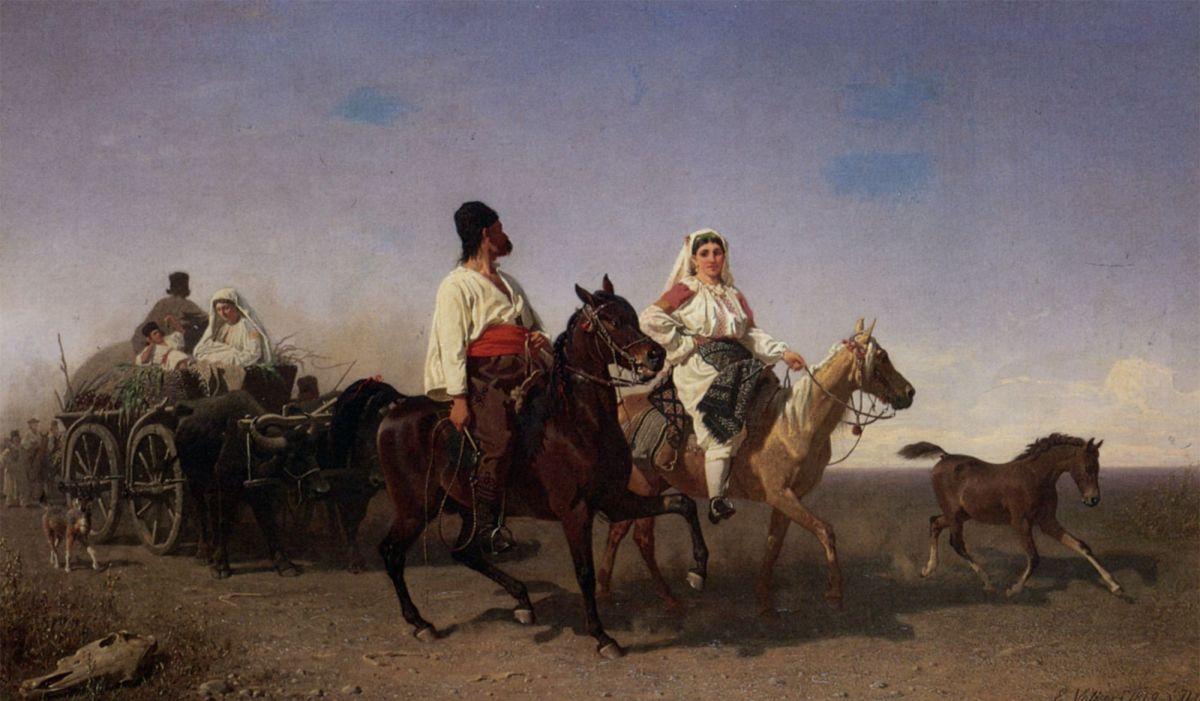 The Gypsy Caravan by Emil Volkers