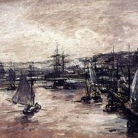 The Harbour Of Dunkerque by Alexis Vollon